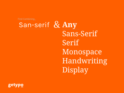 Getypo - Tool Find Combining Font for Designer