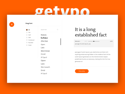 Getypo - Tool Find & Mixing Font for Designer find font typo web font guides  resources free font google font fonts combinations mixing font trendy