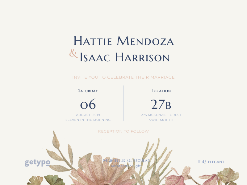 Good Font Combinations For Wedding Invitations: Typeface Combination By Beau Agency On
