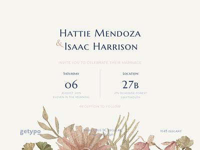 An elegant affair - Typeface Combination google font ceremony invitation wedding delicate classic elegant combination collection font typeface typography