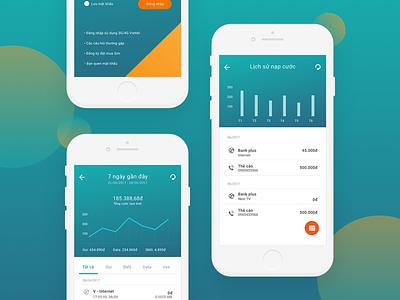 My Viettel Telecom App telecom viettel ux ui simply mobile interface flat design clean application app