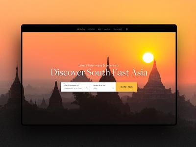 Luxury Travel Agency Vietnam - Intro booking elegant asian vietnam travel website web ui web design ux travel agent travel