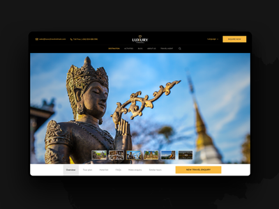 Luxury Travel Agency Vietnam luxury travel ux design website travel website vietnam asia elegant booking