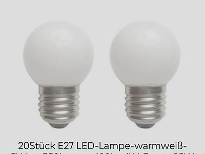 20Stück E27 LED-Lampe-warmweiß-3Watt-350Lumen-100Lm/W-Ersatz 25W