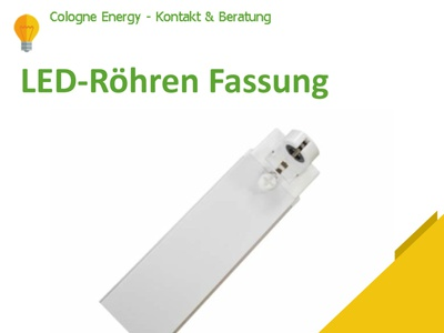 LED-Röhren Fassung T8 60cm 230V 1-flammig mit LED-Leuchtstoffröh