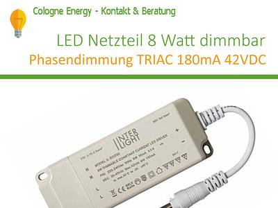 LED Netzteil 8 Watt dimmbar Phasendimmung TRIAC 180mA 42VDC