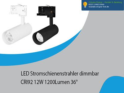 LED Stromschienenstrahler dimmbar CRI92 12W 1200Lumen 36° lg treppenhaus leuchte led