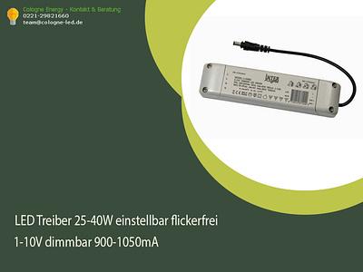 LED Treiber 25-40W einstellbar flickerfrei 1-10V dimmbar 900-105 led treiber