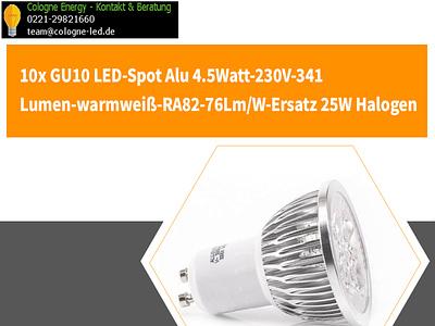 10x GU10 LED Spot Alu led spot