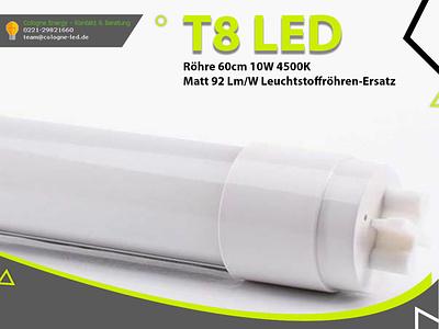 T8 LED Röhre 60cm 10W 4500K matt 92 Lm/W Leuchtstoffröhren-Ersat led röhre logo