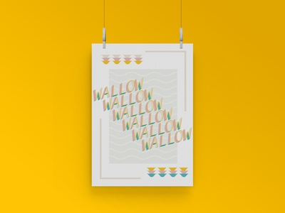 Wallow basic design designs warm colors typography art typography design typogaphy basic waves bright beachcolors music poster challenge poster art poster a day poster musician minimal illustration artwork