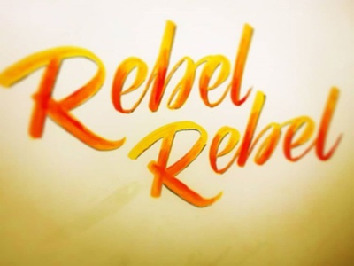 Rebel Rebel Bowie typography brush pen brush lettering brushpen lettering letter typoraphy typo design logotype