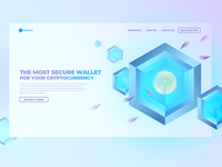 Crypto Wallet Landing Page / Light