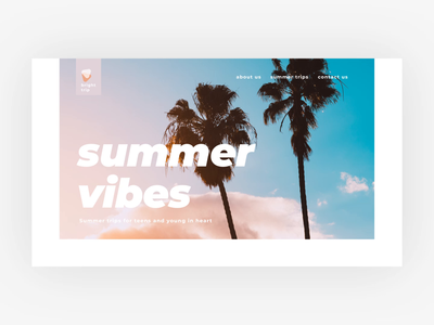 Summer Vibes Website UI