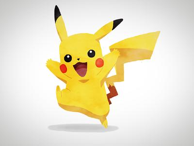 Happy Pikachu digital painting painting digital anime nintendo pokemon go pokemon pikachu