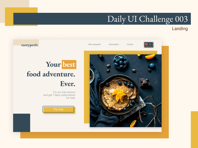 #DailyUI 003 Landing landing web typography ux desktop ui figma design dailyui