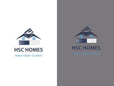 Logo (HSC HOMES) illustration brand identity logos logo design logo creative logo branding adobe illustrator