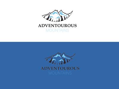 Logo (mountain logo) flatdesign creative logo logos vector illustration brand identity logo design logo branding adobe illustrator