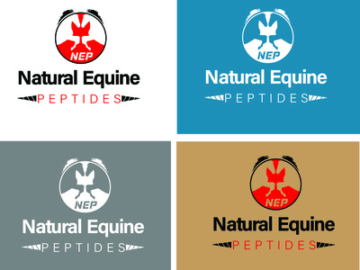 Logo (natural equine peptides) creative design creative logo vector brand identity logos logo design logo illustration branding adobe illustrator