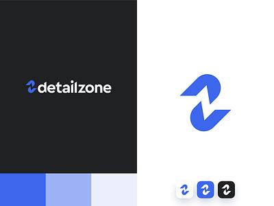 Logo design Detailzone letterlogo z logo d logo cleaning car blue minimal icon typography logo color branding vector design