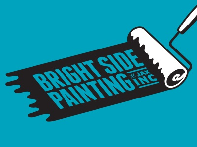 bright side painting logo by louie preysz dribbble