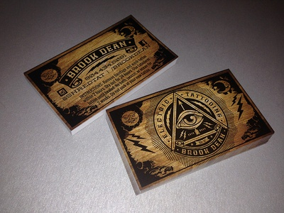 Brook dean electric tattooing business cards by louie preysz brook dean electric tattooing business cards colourmoves