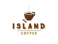 Island Coffee logo - coconut mug