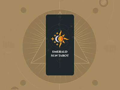 Emerald Sun Tarot motion graphics graphic design 3d ui vector art illustration app design logo icon animation branding