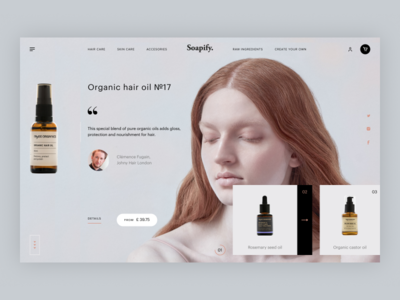 Boutique online beauty store shopify organic brand clean ux ui minimal cosmetics beauty shop store ecommerce