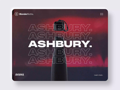 BlenderBottle® ui design octanerender octane arnoldrender after effects motiondesign 3d design motion graphics cinema 4d animation motion uiux motion design