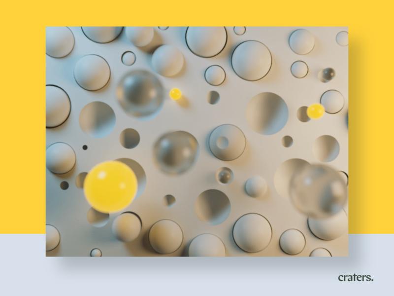 Craters. arnold after effects design motion 3d motion design arnoldrender cinema 4d animation