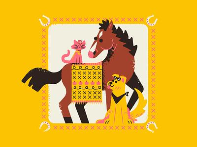 Bojack & Friends 90s horsin around mr peanut butter princess carolyn dog cat horse texture netflix bojack horseman bojack