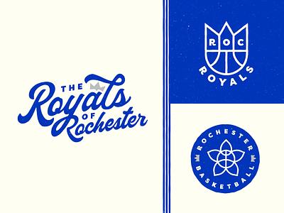Rochester Royals NBA wordmark vintage logo concept basketball nba royals rochester