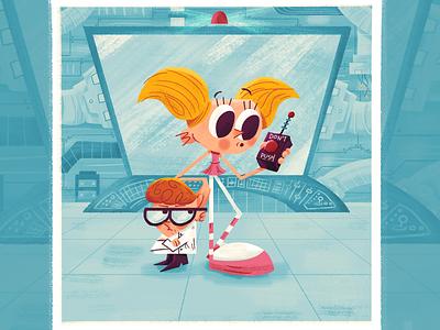 Dexter's Lab 90s illustration cartoon network cartoon laboratory dee dee dexter dexters lab