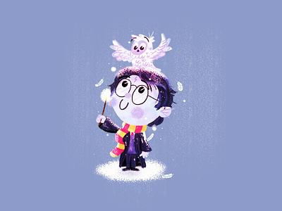 Harry Potter wand hedwig owl hogwarts wizard harry potter