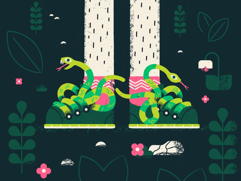 Snekkers vector texture flowers garden shoes sneakers snek snake