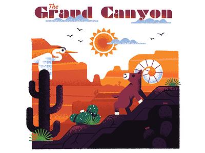 Grand Canyon heron sun cactus canyon bighorn sheep ram desert grand canyon