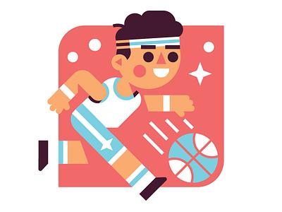 Lil Baller Boy athlete player geometric vector sports basketball