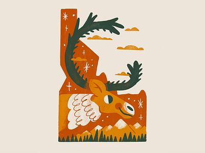 Idaho state reindeer mountains idaho deer caribou buck boise america