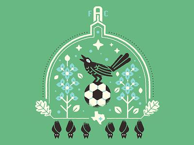 Austin FC blue bonnets bat bats capitol badge texas futbol football soccer austin