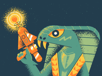 Kobra Khan texture cartoon gun cobra snake masters of the universe heman he man kobra khan