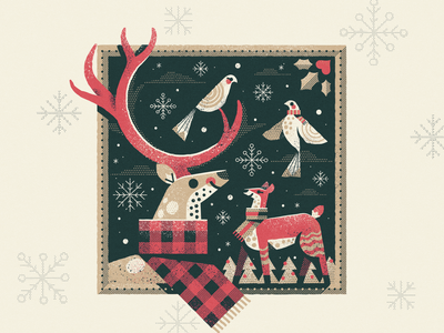 Winter Love texture frame scarves scarf snow holiday christmas winter love dove reindeer