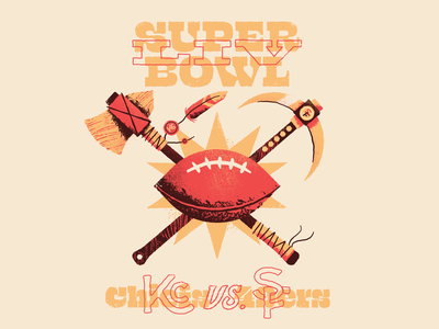 Super Bowl LIV san francisco kansas city feather tomahawk miner 49ers retro chiefs football nfl super bowl