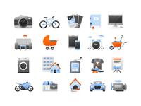 Illustration for mobile application Bazoš