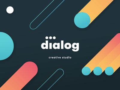 dialog visual identity brand illustration logo creative studio design identity visual dialog