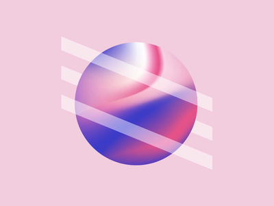 Smooth marble illustration gradient geometry design visual blue pink color shape marble sphere