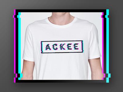 Ackee t-shirts design graphic typography glitch fashion illustration print t-shirt