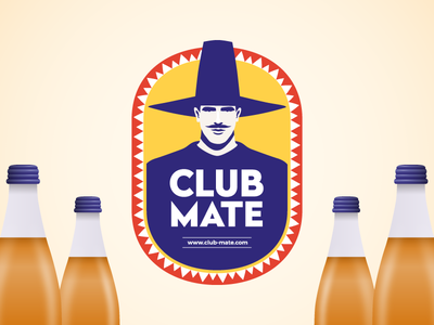 Club Mate redesign concept drink graphic design label bottle packaging package logo illustration redesign mate club