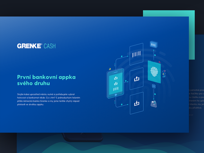 Grenke cash app fingerprint ui grenke atm icon illustration futuristic study case design app bank