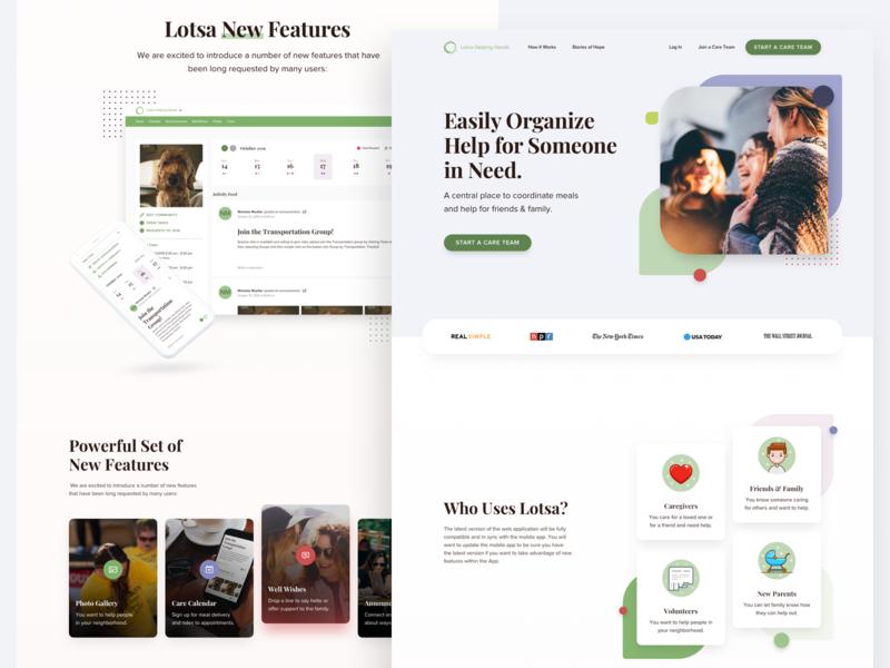Lotsa Helping Hands branding responsive minimal typography ux design interface product page product web design uiux ui web